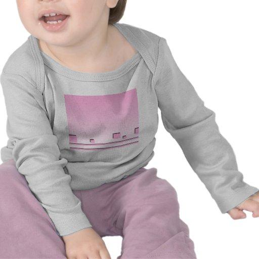 Líneas rosadas y diseño gráfico de los cuadrados camisetas