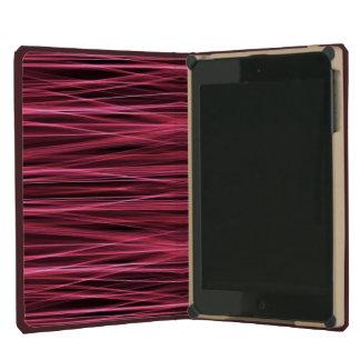 Líneas rosadas y rojas en negro