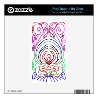 líneas simples a un diseño simple calcomanías para iPod touch 4G