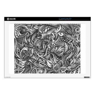 Líneas sombreadas extracto de Swirly del Doodle Portátil Skin