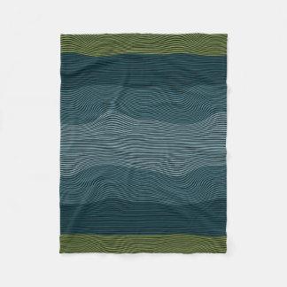 Líneas Squiggly manta de no. 1 de la ilusión Manta De Forro Polar