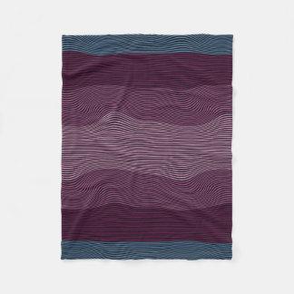 Líneas Squiggly manta de no. 2 de la ilusión Manta De Forro Polar