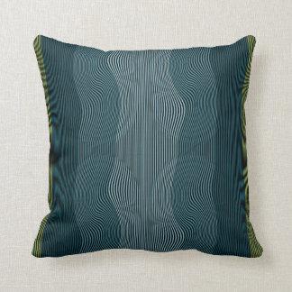 Líneas Squiggly no. 1 de la almohada de la ilusión