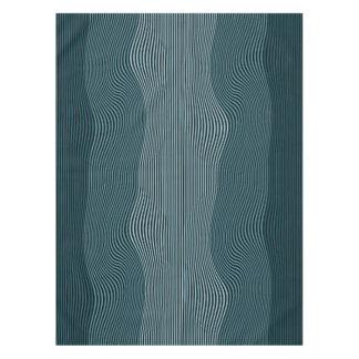 Líneas Squiggly no. 2 del mantel de la ilusión