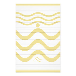Líneas Squiggly Personalized Stationery