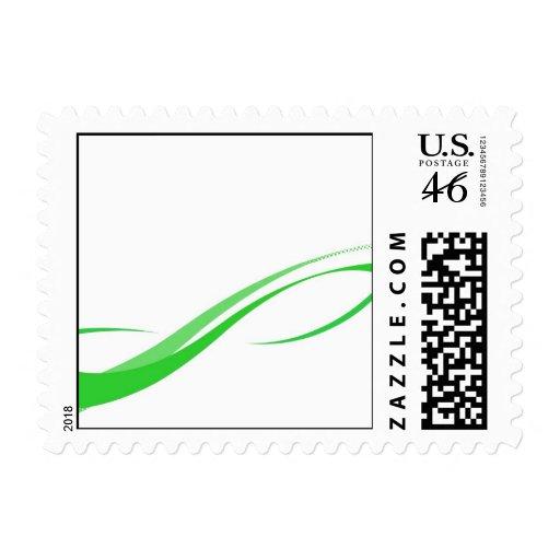 Líneas verdes abstractas fondo de Swoosh Franqueo