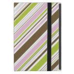Líneas verdes púrpuras de la diagonal de Brown iPad Mini Protector