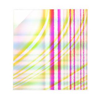 Líneas verticales rosadas con el extracto curvado  libreta para notas