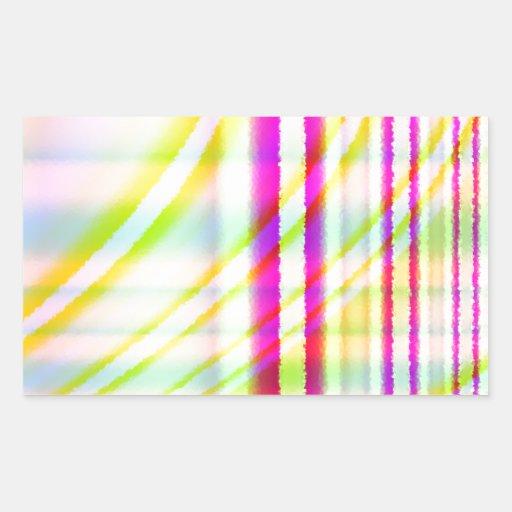 Líneas verticales rosadas con el extracto curvado rectangular altavoces
