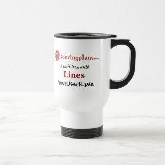 Líneas viaje/taza del viajero (blanca) taza de viaje de acero inoxidable