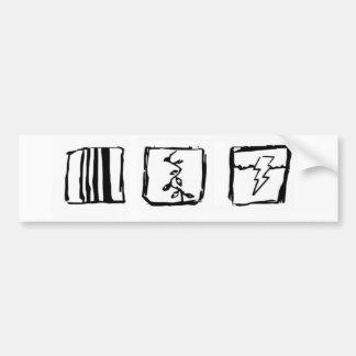 Líneas vides y pegatina para el parachoques de las pegatina para auto