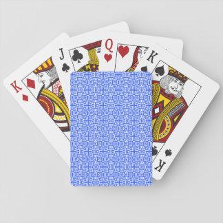 Líneas y cruces abstractas azules barajas de cartas