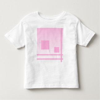 Líneas y cuadrados. Diseño abstracto rosado Tee Shirts