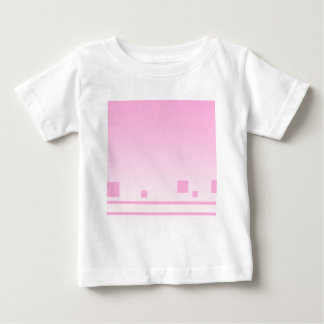Líneas y cuadrados. Diseño abstracto rosado Playera De Bebé