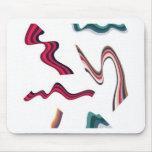 Líneas y diseño de gráficos de las cintas alfombrillas de ratones