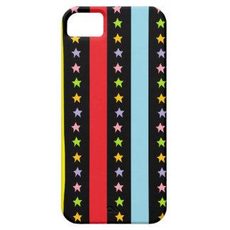 Líneas y estrellas coloridas iPhone 5 fundas