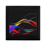 Líneas y modelo de ondas coloridos abstractos caja de joyas