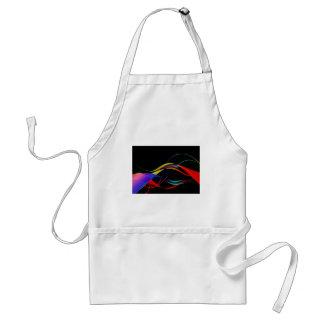 Líneas y modelo de ondas coloridos abstractos delantal