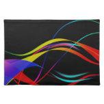 Líneas y modelo de ondas coloridos abstractos manteles individuales