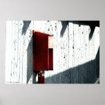 """Líneas y poster grande """"rojo"""" de la colección de l"""