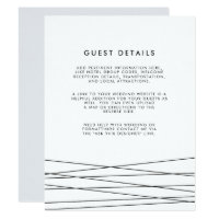 Lineation | Black & White Wedding Guest Details Card
