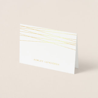Lineation | Modern Gold Foil Stationery Card