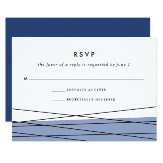 Lineation RSVP Card | Steel Blue