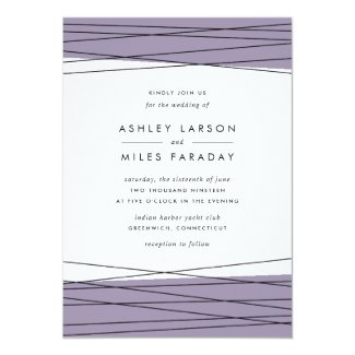 Lineation Wedding Invitation | Gray Lilac
