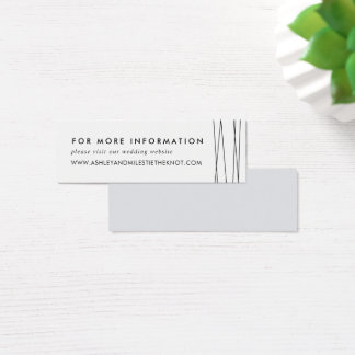 Lineation Wedding Website Cards | Black & White