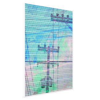 Linectrik blues stretched canvas print