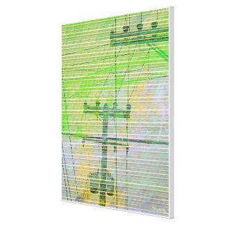 Linectrik Greens Canvas Print
