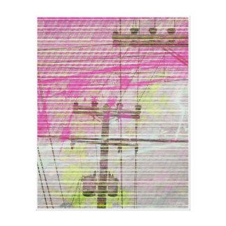 Linectrik reds canvas print