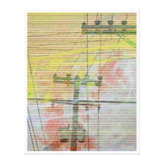 Linectrik suns canvas print