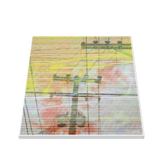 Linectrik suns gallery wrapped canvas