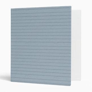 lined aqua paper binder