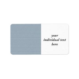 lined aqua paper custom address label