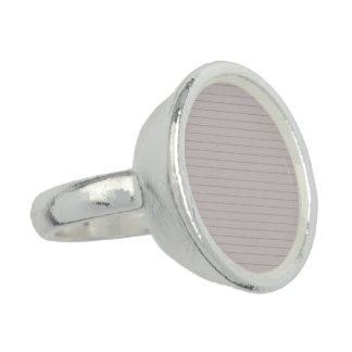 lined beige paper ring