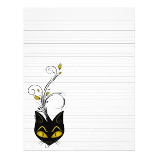 """Lined Binder Paper 8.5""""x11"""" Black Cat Solid Black"""