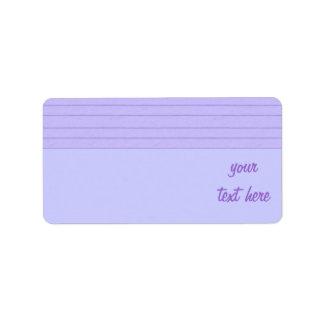 lined blue paper labels
