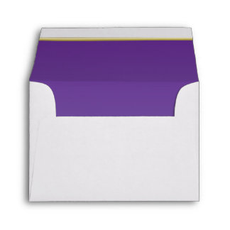 Lined Bold Bright Purple Print Envelope