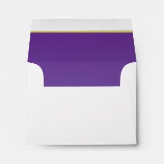Lined Bold Bright Purple Print Envelope