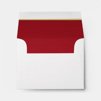 Lined Bold Dark Red Print Envelope