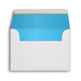 Lined Bright Baby Blue Print Envelope