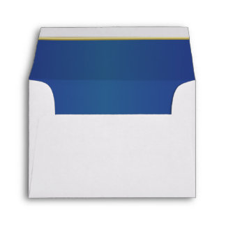 Lined Bright Dark Blue Print Envelope