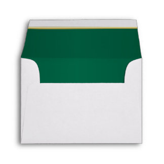 Lined Bright Dark Green Print Envelope