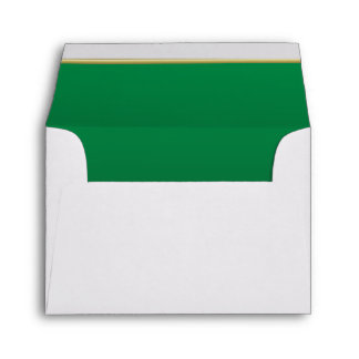 Lined Bright Green Print Envelope