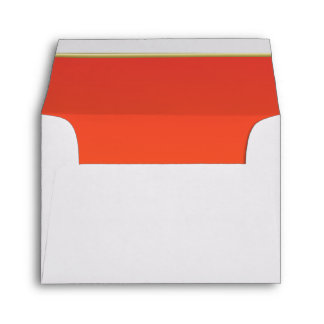 Lined Bright Orange Print Envelopes