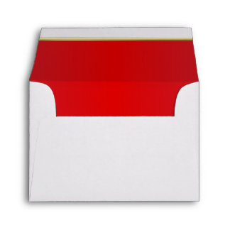 Lined Bright Radiant Red Print Envelope