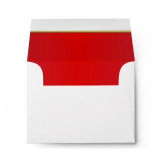 Lined Bright Radiant Red Print Envelope