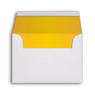 Lined Bright Yellow Print Envelope